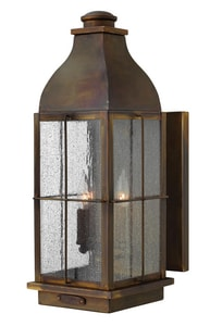 Hinkley Lighting 21 in. 60W 3-Light Outdoor Wall Lantern in Sienna H2045SN