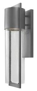 Hinkley Lighting Shelter 15W 1-Light Wall Lantern in Hematite H1324LED