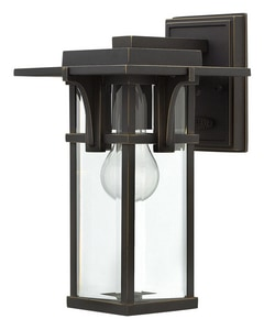 Hinkley Lighting 7-3/10 in. 100W 1-Light Medium E-26 Wall Lantern in Oil Rubbed Bronze H2320OZ