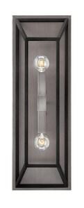 Hinkley Lighting Fulton 5 in. 60W 2-Light Candelabra E-12 Wall Sconce in Aged Zinc H3330DZ