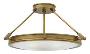 Hinkley Lighting 60W 4-Light Candelabra E-12 Base Semi-Flushmount Ceiling Fixture in Heritage Brass H3382HB