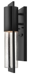 Hinkley Lighting Shelter 15-1/2 in. 60W 1-Light Outdoor Wall Lantern in Black H1326BK