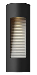 Hinkley Lighting 16 in. 20W 2-Light Outdoor Wall Lantern in Satin Black H1660SK