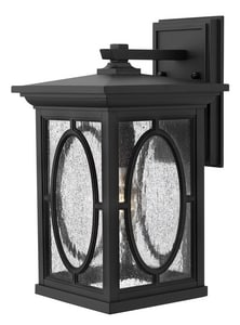 Hinkley Lighting 14-1/2 in. 100W 1-Light Outdoor Wall Lantern in Black H1494BK