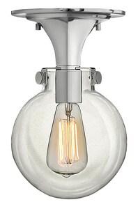 Hinkley Lighting 100W 1-Light Medium Semi-Flush Ceiling Light in Polished Chrome H3149CM