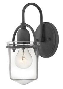 Hinkley Lighting Clancy 6 x 11-3/10 in. 100W 1-Light Medium E-26 Wall Sconce in Aged Zinc H3030DZ