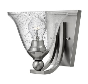 Hinkley Lighting Bolla 100W 1-Light Medium E-26 Incandescent Wall Sconce in Brushed Nickel H4650BNCL