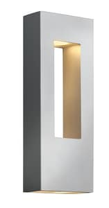 Hinkley Lighting Atlantis 16 in. 11W 2-Light Outdoor Wall Lantern in Titanium H1648TTLED