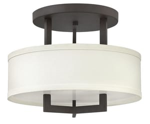 Hinkley Lighting Hampton 60W 3-Light Medium E-26 Chandelier in Buckeye Bronze H3200KZ
