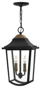 Hinkley Lighting Burton 18-3/10 in. 2-Light 60W Wall Lantern in Black H1972BK