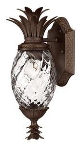 Hinkley Lighting 14 in. 60W 1-Light Outdoor Wall Lantern in Copper Bronze H2226CB