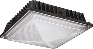 Lithonia Lighting 150W 1-Light Integrated LED Outdoor Ceiling Light in Dark Bronze LOFMLEDP150KMVOLTD
