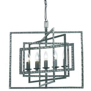 Crystorama Lighting Capri 300W 5-Light Chandelier in Grey C336GY