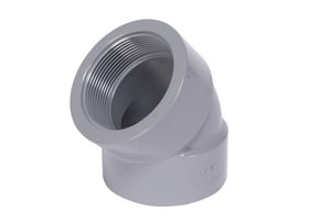 Corzan® 3/4 in. FPT Straight Schedule 80 CPVC 45 Degree Elbow CP80T4F