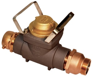 Zenner Performance 2-1/2 in. FNST x MNST Aluminum, Stainless Steel and Brass Hydrant Water Meter with Internal Check Valve - Cubic Foot ZFHZ30SUSCV at Pollardwater