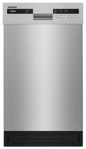 Whirlpool 22 x 32-1/2 x 17-5/8 in. 15A 50 dB Built-in 5 Cycle Dishwasher in Stainless Steel WWDF518SAHM