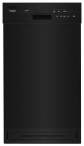 Whirlpool 17-5/8 in. 5-Cycle Built-in Dishwasher in Black WWDF518SAHB