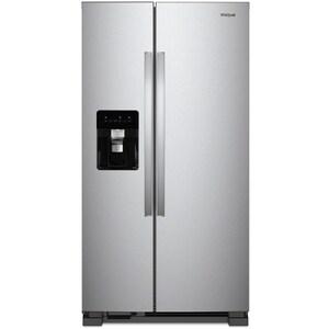 Whirlpool 35-7/8 x 69-5/8 in. 24.6 cf Side-by-side Freestanding Refrigerator in Fingerprint Resistant Stainless Steel WWRS315SDHZ