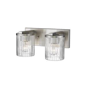 Millennium Lighting 14-1/2 x 6 in. 200W 2-Light Medium E-26 Incandescent Vanity Fixture in Satin Nickel M232SN
