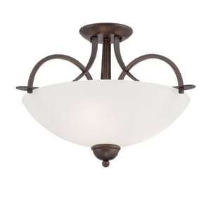 Millennium Lighting Austin 300W 3-Light Medium E-26 Semi-Flush Mount Ceiling Fixture in Rubbed Bronze M1973RBZ
