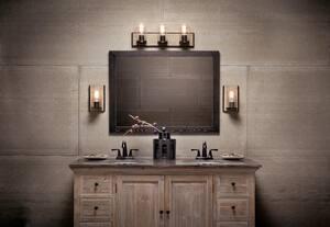 Kichler Lighting Millwright 3-Light Bath Light in Distressed Antique Grey Wood KK45544DAG
