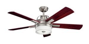 Kichler Lighting Lacey II 17W 5-Blade Ceiling Fan with 52 in. Blade Span in Antique Pewter KK300024AP