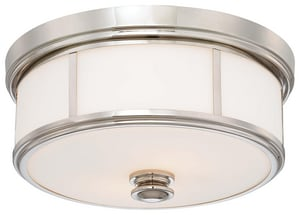 Minka-Lavery 16 in. 60W 3-Light Medium E-26 Incandescent Flush Mount Ceiling Fixture in Polished Nickel M6368613