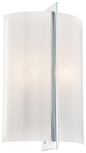 Minka-Lavery Clarte 14-1/2 in. 60W 2-Light Wall Sconce in Polished Chrome M639077