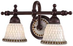 Minka-Lavery Piastrella Bath 100W 2-Light Bath Light in Oil Rubbed Bronze M6052143