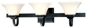 Minka Agilis™ 100 W 3-Light M Vanity in Black M681366
