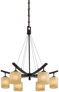 Minka Raiden™ 100 W 6-Light Medium Chandelier in Iron Oxide M1186357