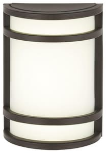 Minka Lavery Bay View™ 13W 1-Light GU24 Outdoor Wall Sconce in Oil Rubbed Bronze M9801143
