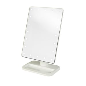 Jerdon Style 8-1/2 x 11 in. LED Lighted 10X Adjustable Magnifying Spot Mirror in White JJS811W