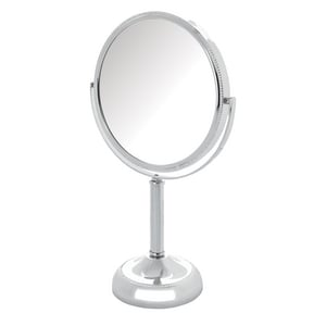 Jerdon Style 6 x 11 in. Top Mount 10X Magnifying Mirror in Polished Chrome JJP910B