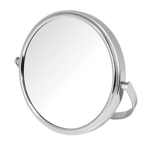 Jerdon Style 5-1/2 x 5-1/2 in. Freestanding Table Top 5X Magnifying Mirror JMC109
