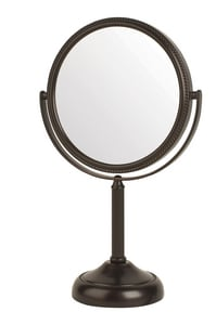 Jerdon Style 6 x 11 in. Top Mount 10X Magnifying Mirror in Bronze JJP910BP