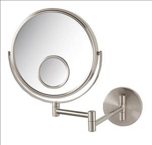 Jerdon Style 8 in. Wall Mount Spot 10X Magnifying Mirror in Nickel JJP7510N