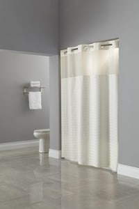 Focus Products Group Madison 77 x 71 in. Polyester Shower Curtain (Case of 12) in White FHBH43MYS0177
