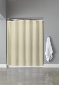 Focus Products Group Basic Poly Hooked™ 72 x 72 in. Polyester Shower Curtain (Case of 12) in Beige FHBB40PLW0572
