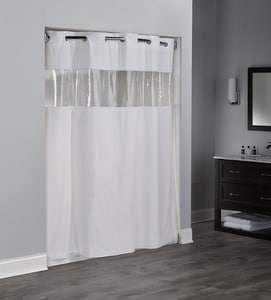 Focus Products Group Vinyl Vision 71 x 74 in. 8 ga Vinyl Shower Curtain (Case of 12) FHBH08VIS