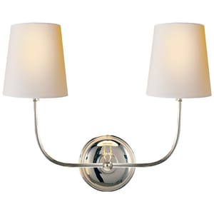Visual Comfort & Co Thomas O'Brien Vendome 2-Light Decorative Wall Light in Polished Nickel VTOB2008PNNP