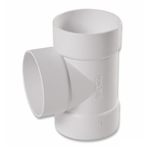 NDS 4 in. Hub Straight Styrene Sewer and Drain Tee N401