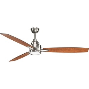Progress Lighting Gaze Collection 75W 3-Blade Ceiling Fan with 60 in. Blade Span and LED Light PP255430K