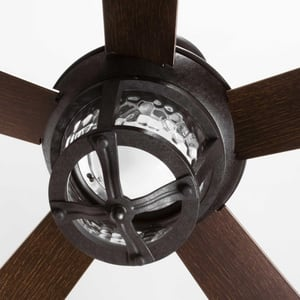 Progress Lighting Smyrna 58W 5-Blade Indoor Ceiling Fan with 52 in. Blade Span and LED Light in Forged Black PP25768030K