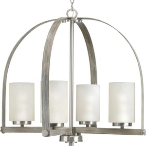 Progress Lighting Aspen Creek 4-Light 100W Medium E-26 Incandescent Chandelier in Brushed Nickel PP400027009