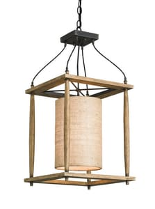 Currey and Company High Falls 60W 1-Light Medium E-26 Incandescent Lantern in Blacksmith with Natural Ash C9996