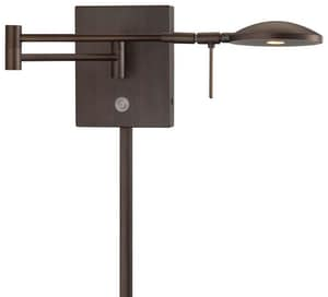George Kovacs George's Reading Room™ 8W 1-Light Wall Sconce in Copper Bronze Patina KP4338647