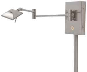 George Kovacs George's Reading Room™ 8W 1-Light LED Wall Sconce in Brushed Nickel KP4328