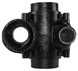 4 x 28 in. No-Hub Cast Iron Double Starter Fitting NHDISFP28