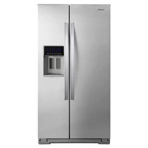 Whirlpool 36 in. 20.59 cf Counter Depth Side-By-Side Refrigerator in Fingerprint Resistant Stainless Steel WWRS571CIHZ